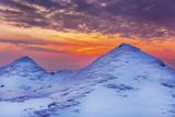 Ice Dunes on a Lake Huron Shoreline at Sunset