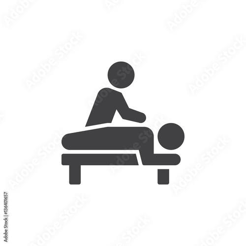 Massage icon vector, filled flat sign, solid pictogram isolated on white. Spa services symbol, logo illustration