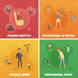 Physical Activity Compositions Set