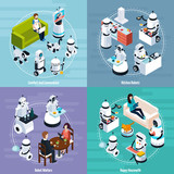Home Robots 2x2 Isometric Design Concept