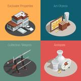 Auction Square Compositions Set