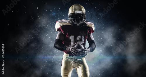 American football sportsman player