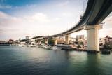 Road bridge over port, Okinawa