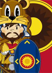 Cute Cartoon Roman Soldier