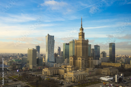 Amazing Warsaw skyline. - 136436870