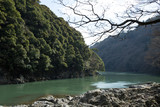 Hozu river in Kyoto, Japan