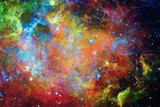 Galaxy and nebula. Elements of this Image Furnished by NASA - Fine Art prints