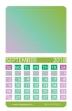 Calendar grid.September.