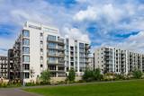 modern apartment building exterior - 136449603