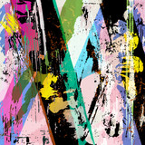 abstract background, with strokes, splashes and geometric lines,