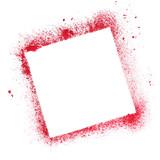 Red quare stencil frame