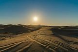 sunshine and sand in desert