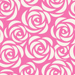 Seamless pattern with roses. Abstract floral background. Vector illustration