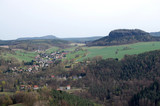 View of the neighborhood from the fortress Konigstein