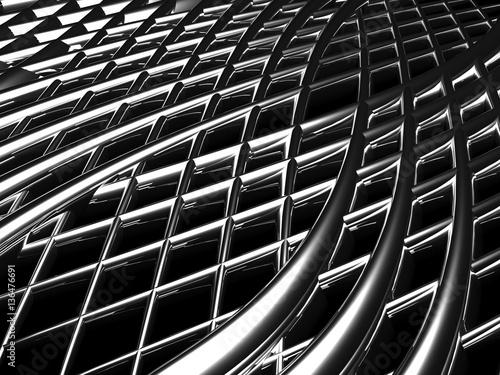 Rejillas metálicas curvas © anibal