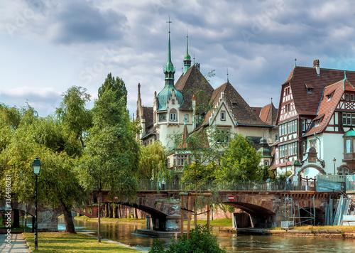 Foto Murales Красивое здание в Страсбурге