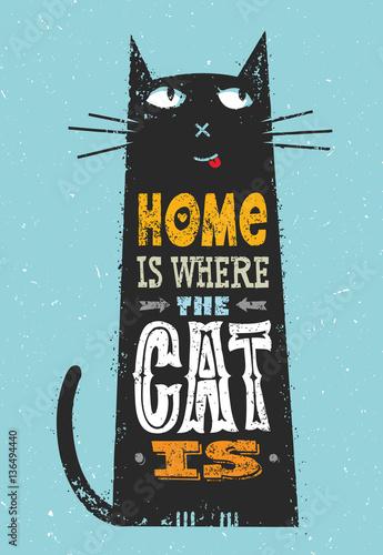 dom-jest-tam-gdzie-jest-kot-smieszne-cytaty-o-zwierzetach-wektorowy-znakomity-typografia-druku-pojecie-na-plamy-tle