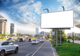 Banner billboard mockup for advertising in city useful for design
