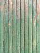 Green weathered plank with the cracked paint