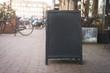 Restaurant chalkboard menu sign