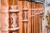 Brilliant new copper pipes. - 136535051