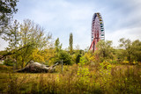 Stillgelegtes Riesenrad im Spreepark Plänterwald Berlin