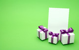 Holiday accessories on a green background