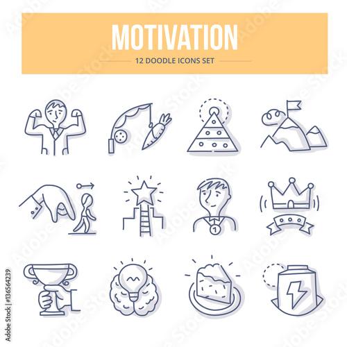 Motivation Doodle Icons