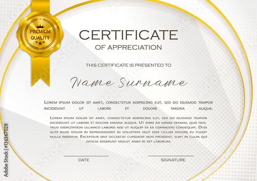 qualification certificate of appreciation female design elegant