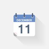 11 december calendar icon