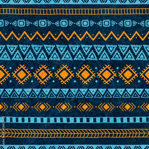 Materiał do szycia Vintage wzór. Streszczenie tekstura. Kolory niebieski i pomarańczowy