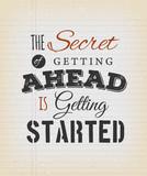 Inspirational Motivation Quote On Vintage Background