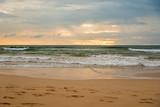 Sandstrand bei Sonnenuntergang