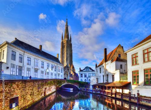 Spoed canvasdoek 2cm dik Brugge Travel Bruges, Belgium