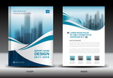 Annual report brochure flyer template, Blue cover design, business, newsletter, book, magazine ads, booklet,catalog