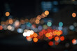 Colorful lights from cars in defocus, night, outdoor - 136620096