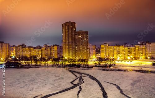 Residential Areas at Night, Kiev - 136620068