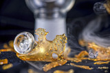 Marijuana oil concentrate aka shatter isolated with glass rig on