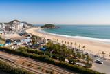 Songjeong Beach and city Skyline in korea