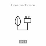 Linear icon in black and white