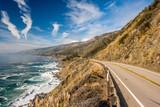 Fototapety Highway 1 on the pacific coast, California, USA.