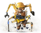 Building tools and equipment like a constructiion robot - 136655651