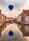 Air balloon over Bruges