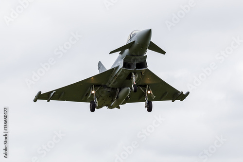 Poster Eurofighter Typhoon landing at Liverpool airport