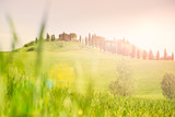 Tuscany, rolling hills with sun light
