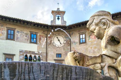 Plagát Fontana Piazza dei Cavalieri - Pisa