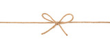 Bow knot on a string isolated - 136672201