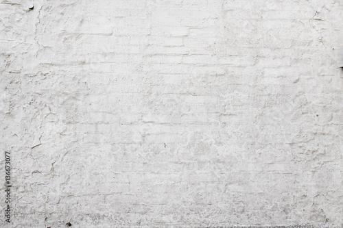 In de dag Stenen verwitterte alte weiße Ziegelsteinwand