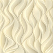 Gold background with texture of the volumetric wavy lines.. - 136691042
