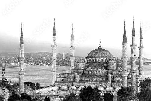 Leinwand Poster The Blue Mosque, (Sultanahmet Camii), Istanbul, Turkey.